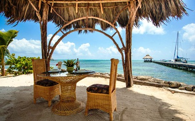 Dining at San Pedro Ambergris Caye Belize Beach Resort
