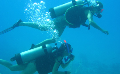 Scuba Diving at San Pedro Ambergris Caye Belize