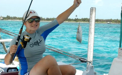 Fishing at San Pedro Ambergris Caye Belize